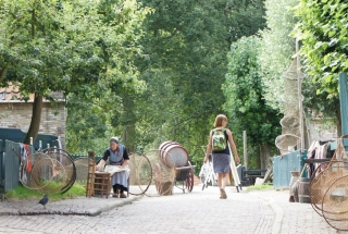 Gospodyni w Zuiderzeemuseum