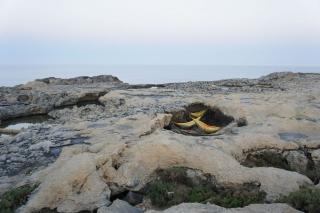 Hamaki wśród skał na Gozo