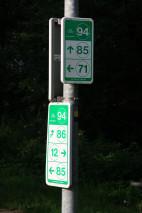 Oznakowanie węzła rowerowego