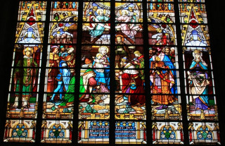 Witraż - katedra św. Rumbolda w Mechelen