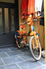 Antwerpia - drewniany rower