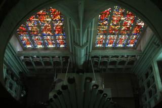 Organy katedry w Mechelen - widziane z góry