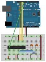 Arduino wgrywanie bootloadera fritzing