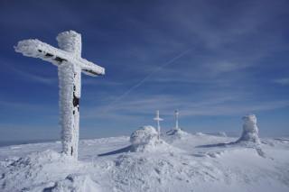 Szczyt Pilska zimą