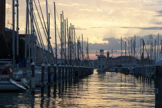 Wenecja - marina na wyspie San Giorgio Maggiore
