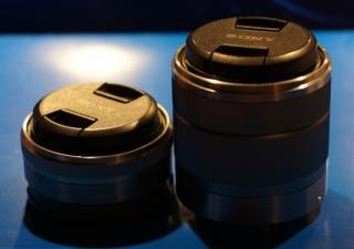 Sony NEX-5 obiektyw Sony 16mm oraz 18-55mm