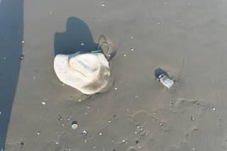 Plaża Mamaia - śmieci