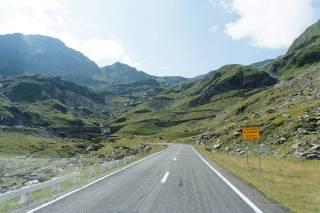 Trasa Transfogarska - widok pod górę
