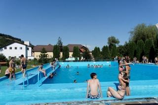 Sighisoara - basen przy campingu Aquarius