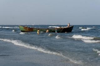 Plaża Mamaia - łódź