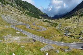 Trasa Transfogarska - widok w dół